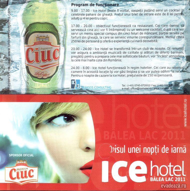 Program Ice Hotel Balea Lac   1