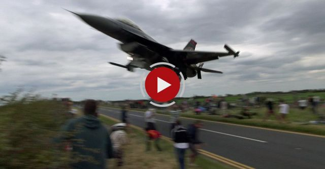 Turkish F-16 Pilot Scaring To Death The Plane Spotters.