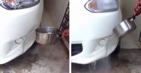Car Dent Gone With Boiling Water