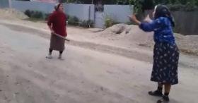 Old Women Fight In Romania