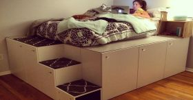 IKEA Hack Platform Bed
