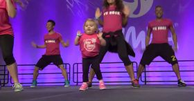 She takes the stage and stuns everyone! Watch those little feet.