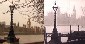 Old Video Footage Of London Plus Modern Shots At Same Location