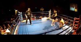 62-Year-Old Tries Out MMA & Rocks His Opponent With A Spinning Backfist!