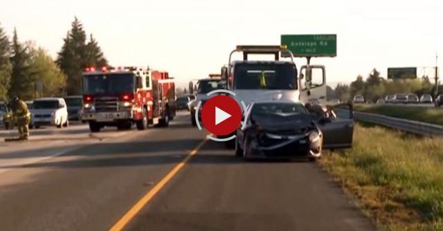 Rubbernecking Causes Crash On I-80 In Sacramento, CA - Video Blog