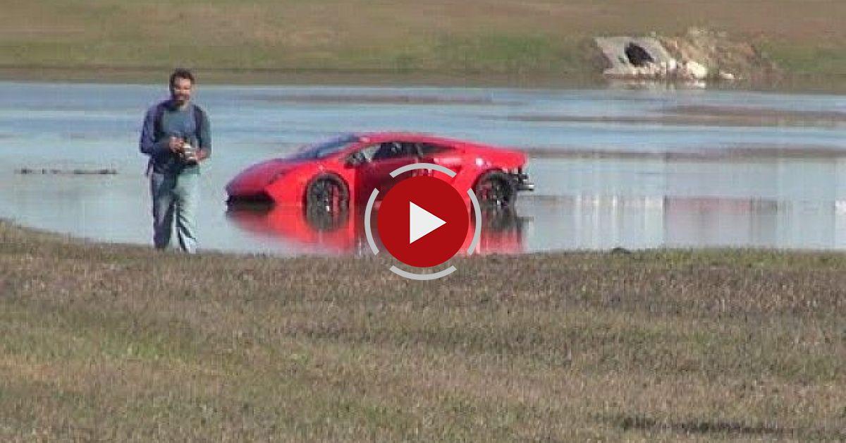 2000HP Lamborghini Loses Control Into Lake