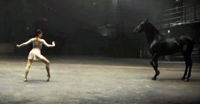 Horse And Ballerina Perform Imaginative Dance Together