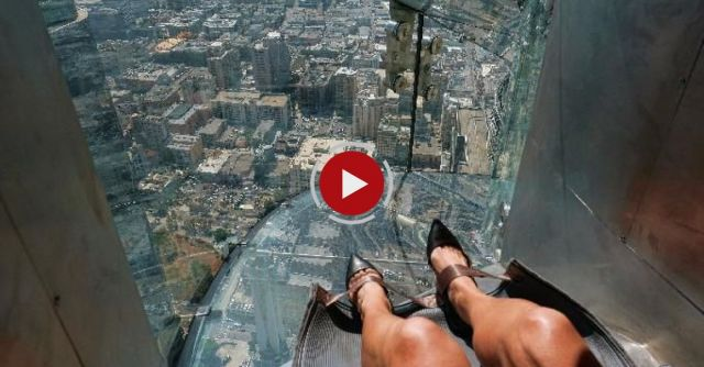 AP Reporter Takes Trip On 1,000-foot Glass Slide
