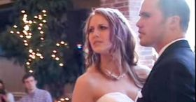 Bride is not amused when Michael Bublé song cuts out, but then the magic happens