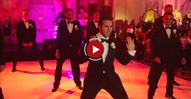 He made his new bride sit down by the dance floor to give her a huge surprise