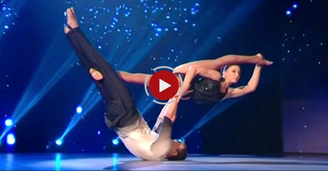 Woman Flies Through The Air With The Help Of Dance Partner In Mind-Blowing Routine