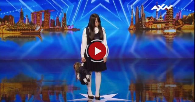 The sacred Riana scares and terrifies the judges