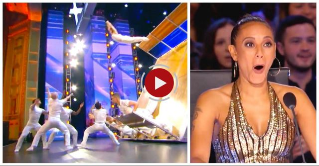 Dancer Leaps Off Giant Rocking 'Ark' Onstage, Then Mel B Yells, 'Oh My God!' When She Lands