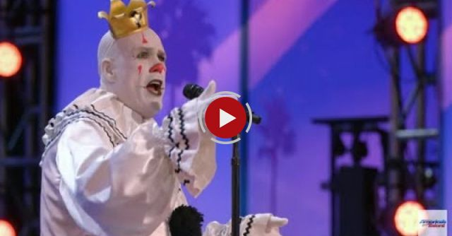 Sad Clown Sings His Heart Out. When He Sees Simon Standing, He Can't Keep It Together