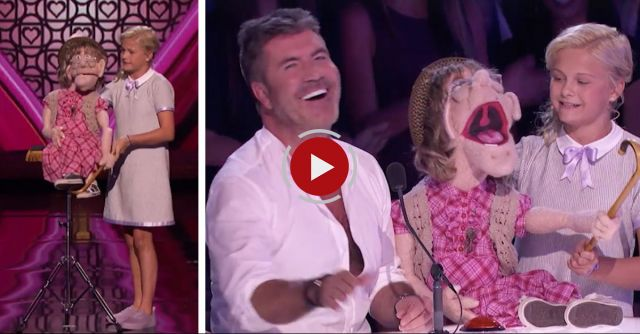 Darci Lynne Introduces 'Old Lady' Puppet To Judges And It Quickly Starts Flirting With Simon